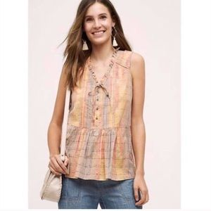 Holding Horses Anthropologie Faye Top Size 16